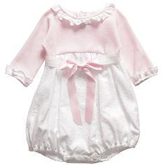 Baby Girls Pink Cotton Shortie - Christening & Baptism - Baby | Childrensalon