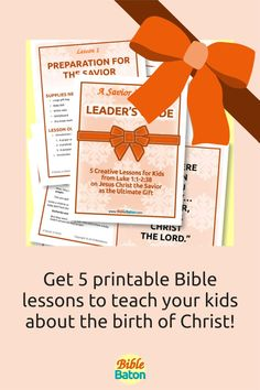 Present Jesus the Savior to Kids as the Ultimate Gift! Then challenge them to accept that gift this holiday season. A Savior is Given: Leader's Guide contains five creative, detailed lesson plans to make teaching your kids about the birth of Christ easy and fun–and meaningful. Use these printable Bible lessons in your children's ministry, Sunday School class, or church pageant this Christmas! Click through for details. Lessons For Kids, Bible Lessons, The Birth Of Christ, The Ultimate Gift, Sunday School, Teaching Kids, Savior, Pageant, Ministry
