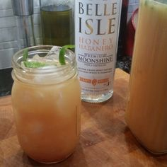 Today's DIY party cocktail comes from Mike Stout a Belle Isle fan from Short Pump VA. Give it a try!  Belle Isle Habanero Moonshine Sunrise 4 cups orange juice 2 cups Belle Isle Habanero Moonshine 1 cup Pomegranate Soda Juice from 2 Limes 1 Jalapeño deseeded and rough chopped  Muddle the chopped Jalapeño and lime juice in a pitcher...add the OJ Moonshine and Pomegranate Soda...and gently stir. Pour over Mason Jar filled with Ice. Top with another splash of soda and serve.  Makes 4-6 Cups  We…