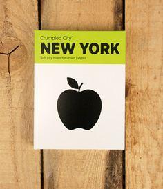Crumpled City Map - New York