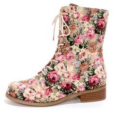 Floral boots via lulus.com
