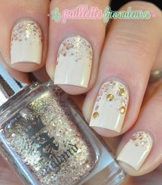 New year nails //  Le cas du nude bling