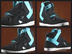 21a4606a66c MEN S CONS CONVERSE MEN S SIZE 12 BLACK PEACOCK AQUA ANARCHY SNEAKERS SHOES   CONVERSE  BasketballShoes