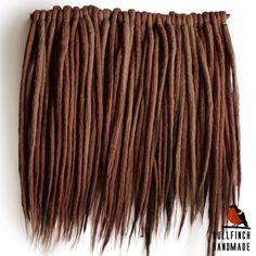 Wool dreadlocks woolen brown dreads dreads by BullfinchHandmade #wooldreads #woolies #wooldreadlocks #dreadlocks #dreads #dreadsextensions