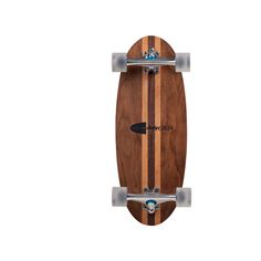 "super wide mini longboard black walnut + beech hand-shaped hardwood deck 26.250 long 10 wide Gullwing Stalker trucks bustin five-O sniper 66mm pure clear wheels  for international orders please see our ""Store FAQs"" for shipping information"