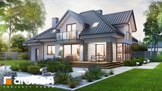 Dom w śliwach (G) New Builds, Home Fashion, Ideas Para, House Plans, Sweet Home, Home And Garden, House Design, Mansions, Interior Design