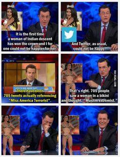 Colbert leaves character