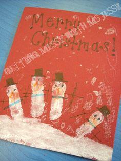 Handprint/Fingerprint Christmas Card