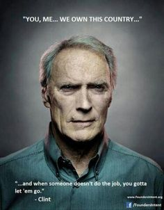 Good old Clint Eastwood got to love him!