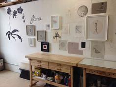 Jenny Stocker's printmaking studio