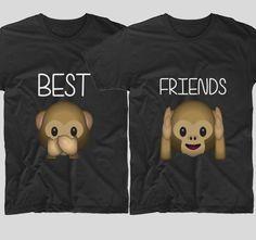 2 Monkeys  Cele mai bune prietene din lume trebuie sa aiba si tricouri cu emoticoane haioase ca acestea. Daca si tu simti ca veti fi prietene pentru totdeauna, atunci mesajul vi potriveste.  Daca tu si cea mai buna prietena vreti sa aveti tricouri personalizate, cu mesaje haioase, ai ajuns unde trebuie! Bff, Best Friends, Sweatshirts, Sweaters, T Shirt, Gifts, Tops, Women, Fashion