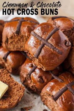 Making hot cross buns is incredibly easy with this Chocolate Hot Cross Buns recipe. Filled with chocolate chips plus cocoa in the dough, your family will be coming back for more.This recipe has rising time, Make sure to plan ahead. Homemade Chocolate, Chocolate Recipes, Chocolate Chips, Chocolate Hot Cross Buns, Easy Desserts, Dessert Recipes, Cross Buns Recipe, Easter Recipes, Baking Recipes