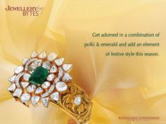 #Emeralds and #polkis set together in this wonderful bracelet by #Birdhichand Ghanshyamdas Jewellers for this festival season. #jaipurart #jewellery