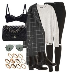 """""""Untitled #332"""" by tamarapanjkovic ❤ liked on Polyvore featuring Topshop, H&M, Yves Saint Laurent, Deborah Marquit, Chanel, ASOS and Ray-Ban"""