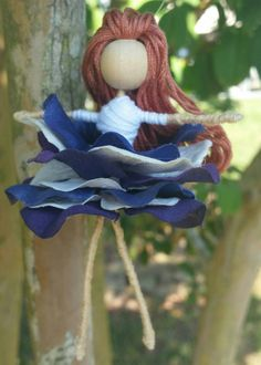 Hey, I found this really awesome Etsy listing at https://www.etsy.com/listing/246159213/purple-fairy-doll-flower-fairy-fairy