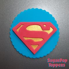 superman cupcake toppers / superman birthday / supergirl cupcake toppers / supergirl birthday Superman Cupcakes, Superman Birthday, Fondant Cupcake Toppers, Sugar Art, Supergirl, Candy, Etsy, Sweets, Candy Bars