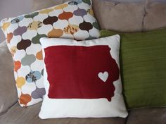 Etsy Iowa throw pillows.