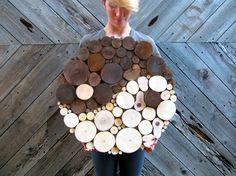 Yin Yang la escultura de la pared de madera por WildSliceDesigns