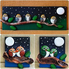 Christmas painting on stones and pebbles: 125 ideas for creativity with children – BuzzTMZ : Christmas painting on stones and pebbles: 125 ideas for creativity with children – BuzzTMZ Hobbies And Crafts, Diy And Crafts, Arts And Crafts, Decor Crafts, Pebble Painting, Stone Painting, Rock Painting, Painting Tips, Watercolor Painting