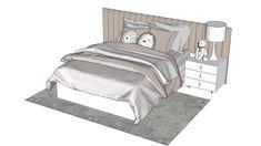 bed model | 3D Warehouse Modele Sketchup, Adaptive Design, Top Furniture Stores, 3d Warehouse, Design Museum, Home Interior Design, Sketchup Models, Dining Table, Sofa