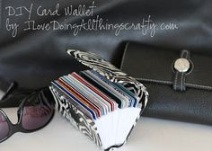 """DIY """"Credit Card"""" Wallet - could also be used to keep all those gift cards and punch cards together - keep in your purse or leave in your car 