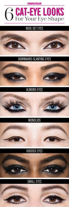 Makeup For Different Eye Shapes 6 Ways To Get The Perfect Cat Eye For Your Eye Shape Cosmo Beauty Makeup For Different Eye Shapes Eye Makeup For Different Eye Shapes Makeup Styles. Makeup For Different Eye Shapes Surgical Makeup How To Adjust Your . Eyeliner For Eye Shape, Eye Shape Makeup, Perfect Eyeliner, Cat Eye Makeup, How To Apply Eyeliner, Eye Makeup Tips, Makeup Ideas, Applying Eyeliner, Eyebrow Shapes