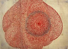 Eccentric Growth, Louise Bourgeois, c. 1963-67, red ink on paper
