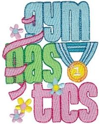 Gymnastics 11 - 2 Sizes! | Words and Phrases | Machine Embroidery Designs | SWAKembroidery.com Bunnycup Embroidery