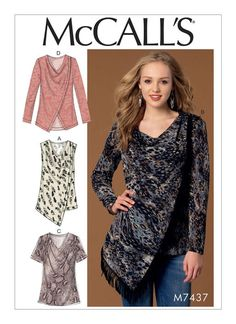 M7437 | McCall's Patterns - The only pattern I could find including fringe. :/ -DB