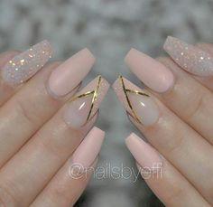 Soft pink nail art
