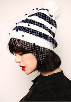 bf1d947b98e 2014 European Style Retro Mesh Winter Hat For Women Warm Knitted Wool Cap  Gauze hat veil yashmak knitted cap