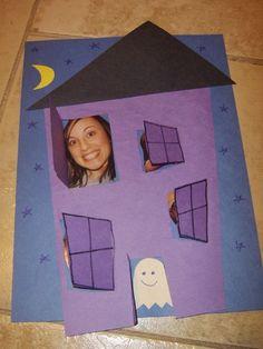 Peek a boo haunted house- could also be an idea for an advent calendar.