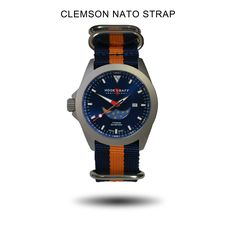 Moonphase Watch, Nato Strap, Man Room, Clemson, Moon Phases, Casio Watch, Blue, Man's Bedroom