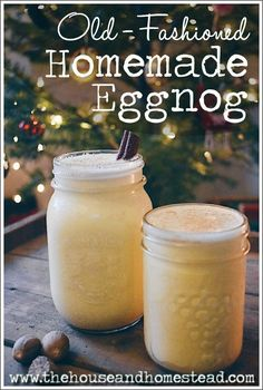 This old-fashioned homemade eggnog recipe is quick, easy and made from real, whole, all-natural ingredients. You'll never drink store-bought eggnog again! Christmas Drinks, Holiday Drinks, Holiday Treats, Christmas Baking, Christmas Treats, Holiday Recipes, Christmas Appetizers, Christmas Dishes, Retro Christmas
