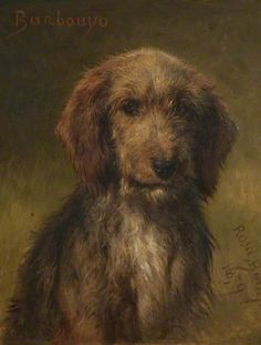 The works of Rosa Bonheur. Rosa Bonheur selected works, art and famous paintings Art Uk, Sports Art, Dog Portraits, Animal Paintings, Dog Art, Artist At Work, Crazy Cats, Painting & Drawing, Watercolor Paintings