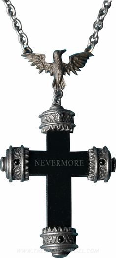 'Nevermore Cross' by Alchemy Gothic inspired by E.A. Poe's masterpiece 'The Raven'.