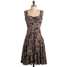Modcloth Dress. Perfect color palette for a fall wedding guest!