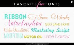Free fonts-Smitten Blog Designs