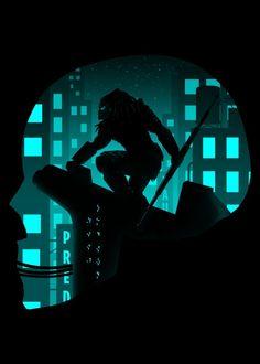 City Hunter Steel Poster  predator, movies, 90's, yautja, alien