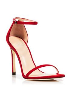Stuart Weitzman Ankle Strap Sandals - Nudistsong | Bloomingdale's