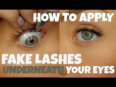 33658e444ca HOW TO APPLY FAKE LASHES UNDERNEATH YOUR EYE FOR BEGGINERS || Alicia moffet  - YouTube