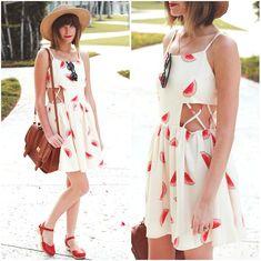 Steffy Kuncman - Watermelon Dress, Swedish Hasbeens Shoes - Watermelons ♥♥