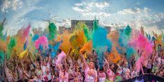 The Color Run - Bucuresti 2015 - Piata Constitutiei - Luchian Comsa The Color Run, Events, Fish, Running, Painting, Art, Art Background, Painting Art, Paintings