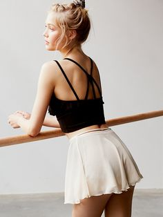 free people: fp movement. ruffle cami. #fitnessfashion