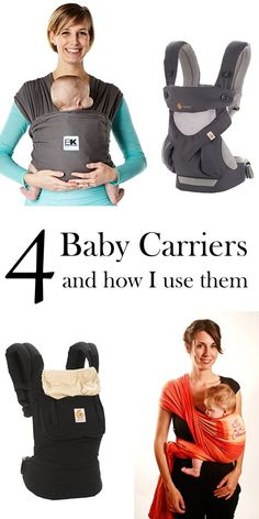 Four baby carriers and how I use them | Baby Ktan | Ergobaby original | Chimparoo | Ergobaby 360 | Woven wrap | babywearing options | ourguidetotheeveryday.com