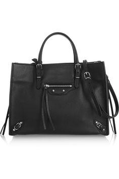 Balenciaga - Papier A6 textured-leather shoulder bag