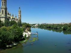 Río Ebro en Zaragoza, Aragón