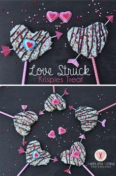Love Struck Rice Krispies Treats Valentine Recipe #ad