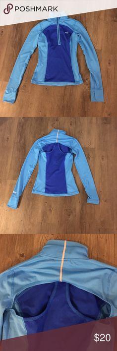 Hollister cutout sexy back workout jacket Super sexy cutout back blue workout jacket Hollister Jackets & Coats