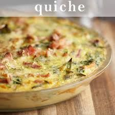yes! No crust, bacon, cheese, 1/4 cup minced onion, 4 eggs, 1 13 oz can evaporated milk, salt, cayenne pepper. Easy quiche!